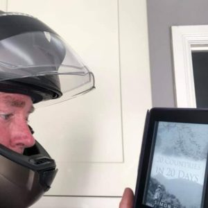 Motorcycle adventure book, riding from England to Asia and back again