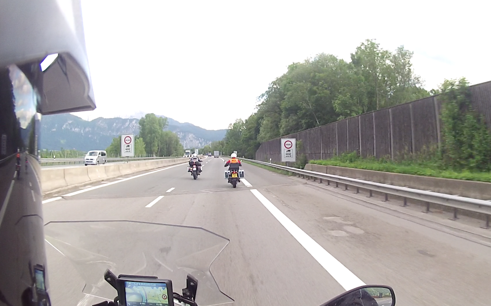 European motorcycle tour Germany Arriving in Austria